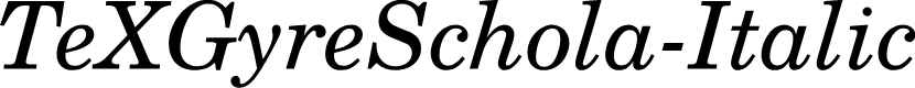 Preview image for TeXGyreSchola-Italic
