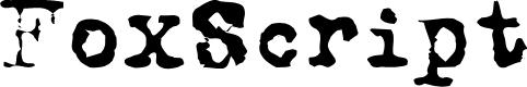 Preview image for FoxScript Normal Font