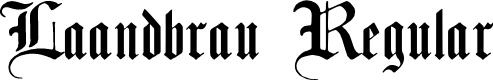 Preview image for Laandbrau Regular Font