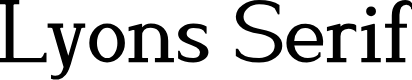 Preview image for Lyons Serif