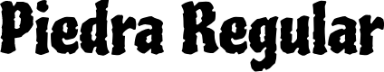 Preview image for Piedra Regular Font