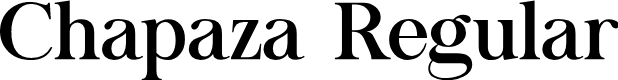 Preview image for Chapaza Regular Font