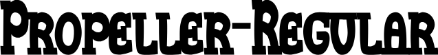Preview image for Propeller-Regular Font