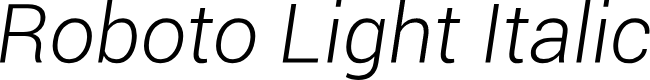 Preview image for Roboto Light Italic