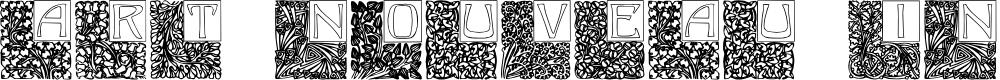 Preview image for Art Nouveau Initials Font