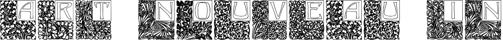 Preview image for Art Nouveau Initials Font