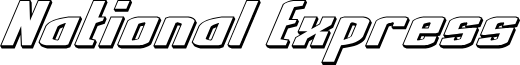 National Express 3D Italic