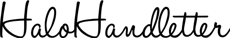 Preview image for HaloHandletter Font