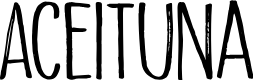 Preview image for Aceituna DEMO Regular Font