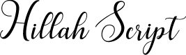 Preview image for HillahScript Font