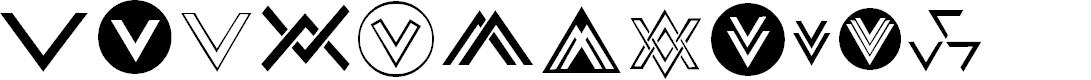 Preview image for Chevron Dingbats Font