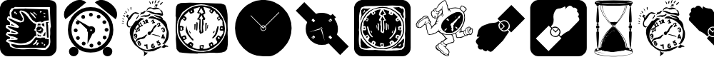 Preview image for AroundTheClock Font