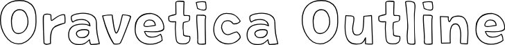 Oravetica Outline font