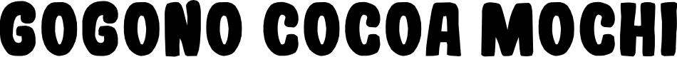 Preview image for Gogono Cocoa Mochi Font