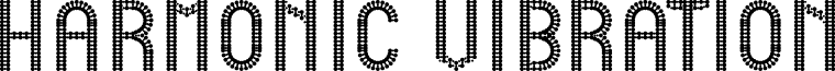 HARMONIC VIBRATION font
