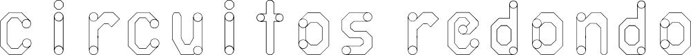 Preview image for circuitos redondos Font