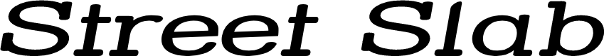Preview image for Street Slab - Super Wide Italic