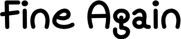 Preview image for Mf Fine Again Font