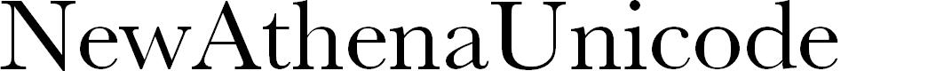 Preview image for NewAthenaUnicode Font