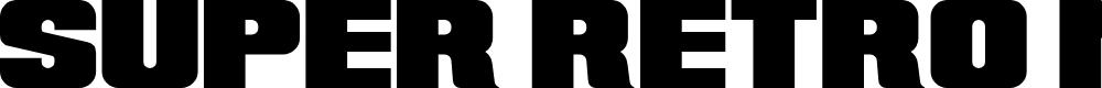 Preview image for Super Retro M54 Font