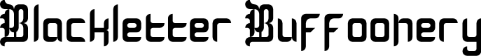Preview image for Blackletter Buffoonery Font