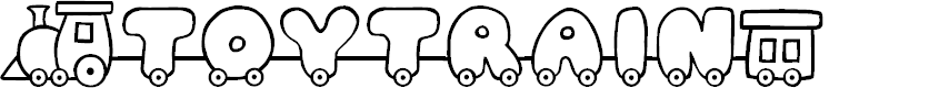 Preview image for JI Toy Train Font