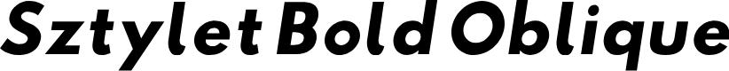 Preview image for Sztylet Bold Oblique