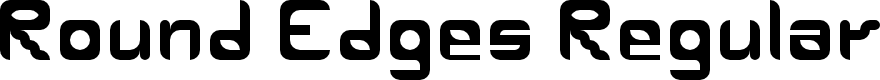Preview image for Round Edges Regular Font