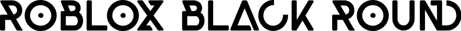 Roblox Black Round