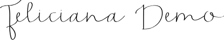 Preview image for Feliciana Demo Font