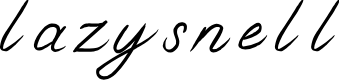 Preview image for lazysnell Font