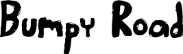Preview image for Bumpy Road Regular Font