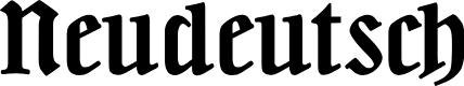 Preview image for Neudeutsch Font