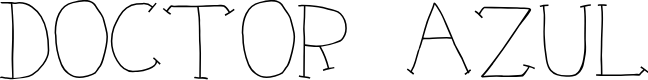 Preview image for Doctor Azul Font
