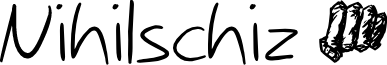 Nihilschiz Handwriting
