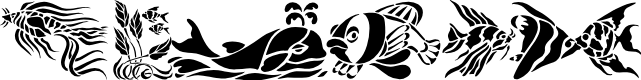 Preview image for Fun Fish Font