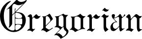 Preview image for GregorianFLF Font