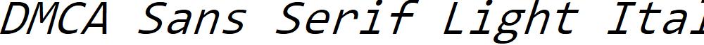 DMCA Sans Serif Light Italic