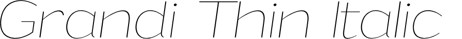 Preview image for Grandi PERSONAL USE Thin Italic