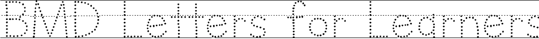 Preview image for BMD Letters for Learners Lined Dots- Hatted J