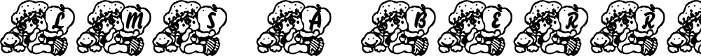 Preview image for LMS A Berry Nice Baby Font
