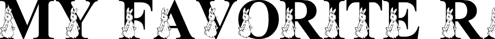 Preview image for LMS My Favorite Rabbit Font