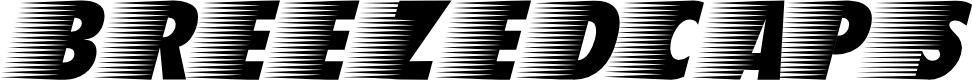 Preview image for BreezedCaps BoldOblique Font