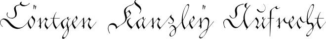 Preview image for Cöntgen Kanzley Aufrecht Font