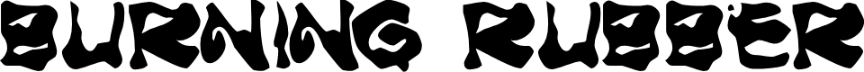 Preview image for Burning Rubber   Black Font
