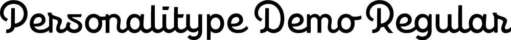 Preview image for Personalitype Demo Regular Regular Font