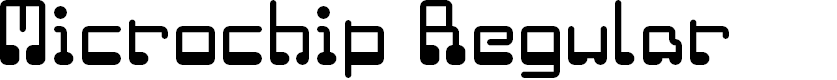 Preview image for Microchip Regular Font