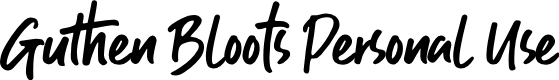 Preview image for Guthen Bloots Personal Use Font