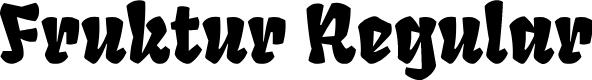 Preview image for Fruktur Regular Font