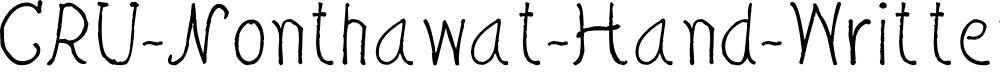 Preview image for CRU-Nonthawat-Hand-Written Regular Font